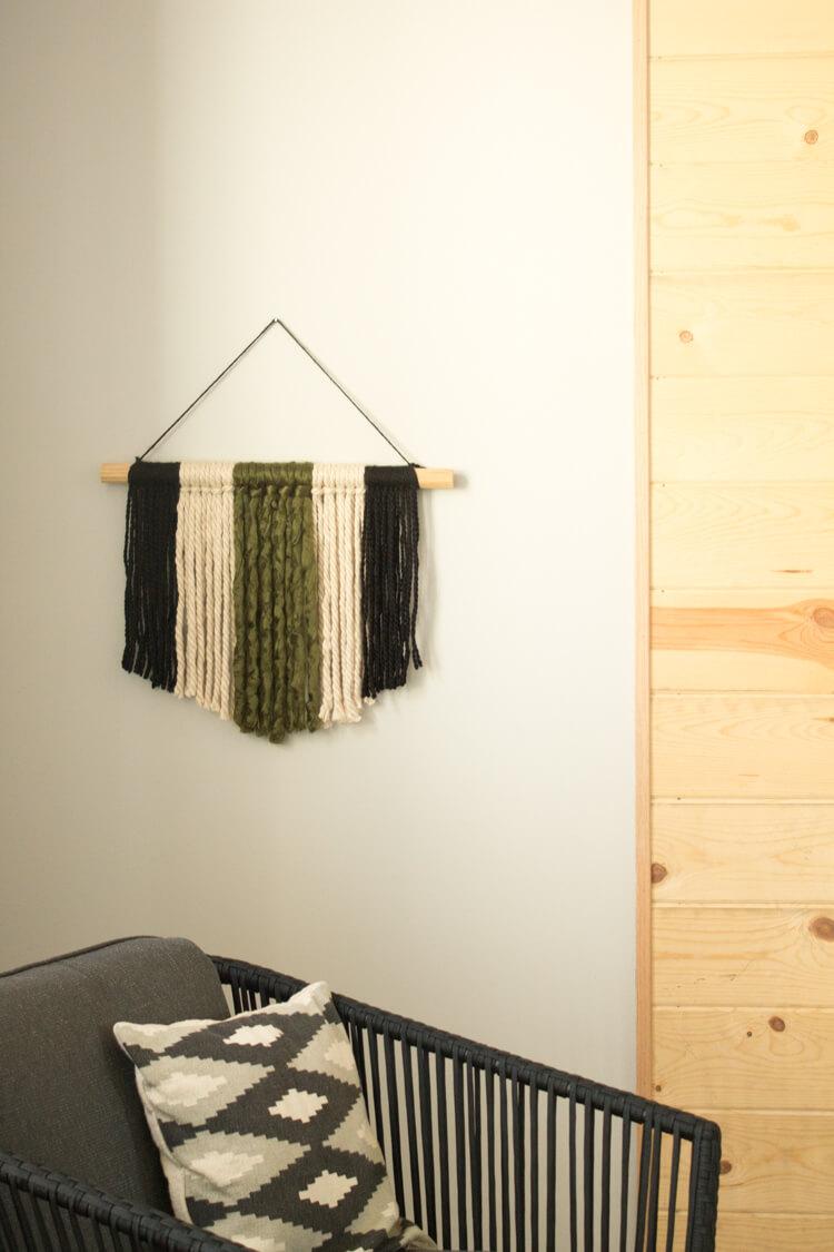 Modern DIY Yarn Wall Hanging: Super Simple Wall Art