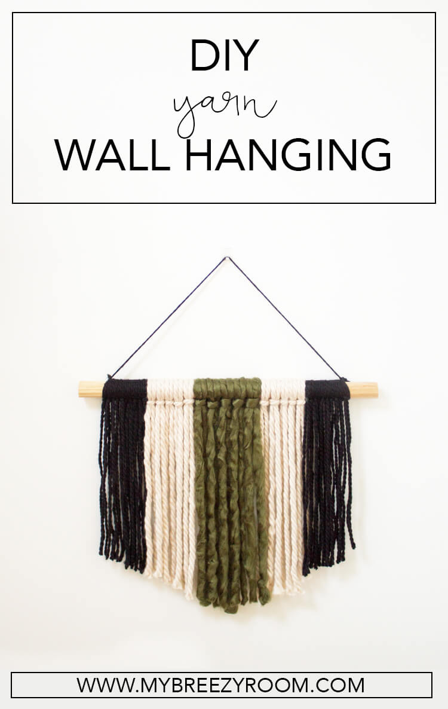 Modern Diy Yarn Wall Hanging Super Simple Wall Art