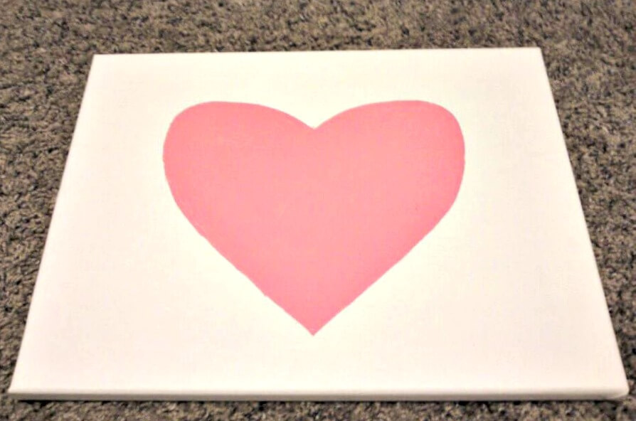Fill in Heart Stencil