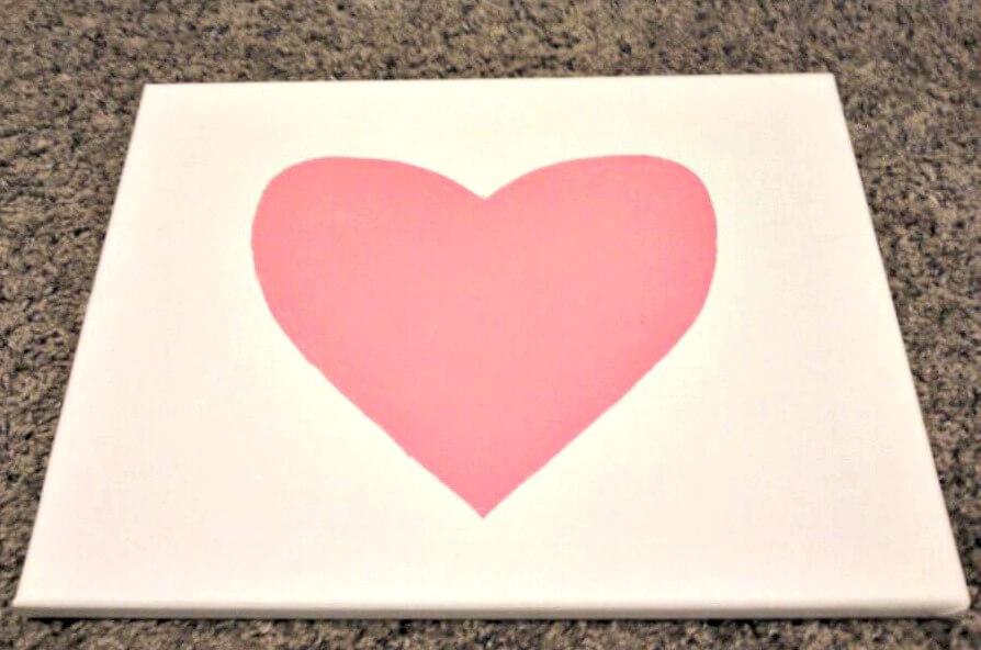 Fill in Heart Stencil