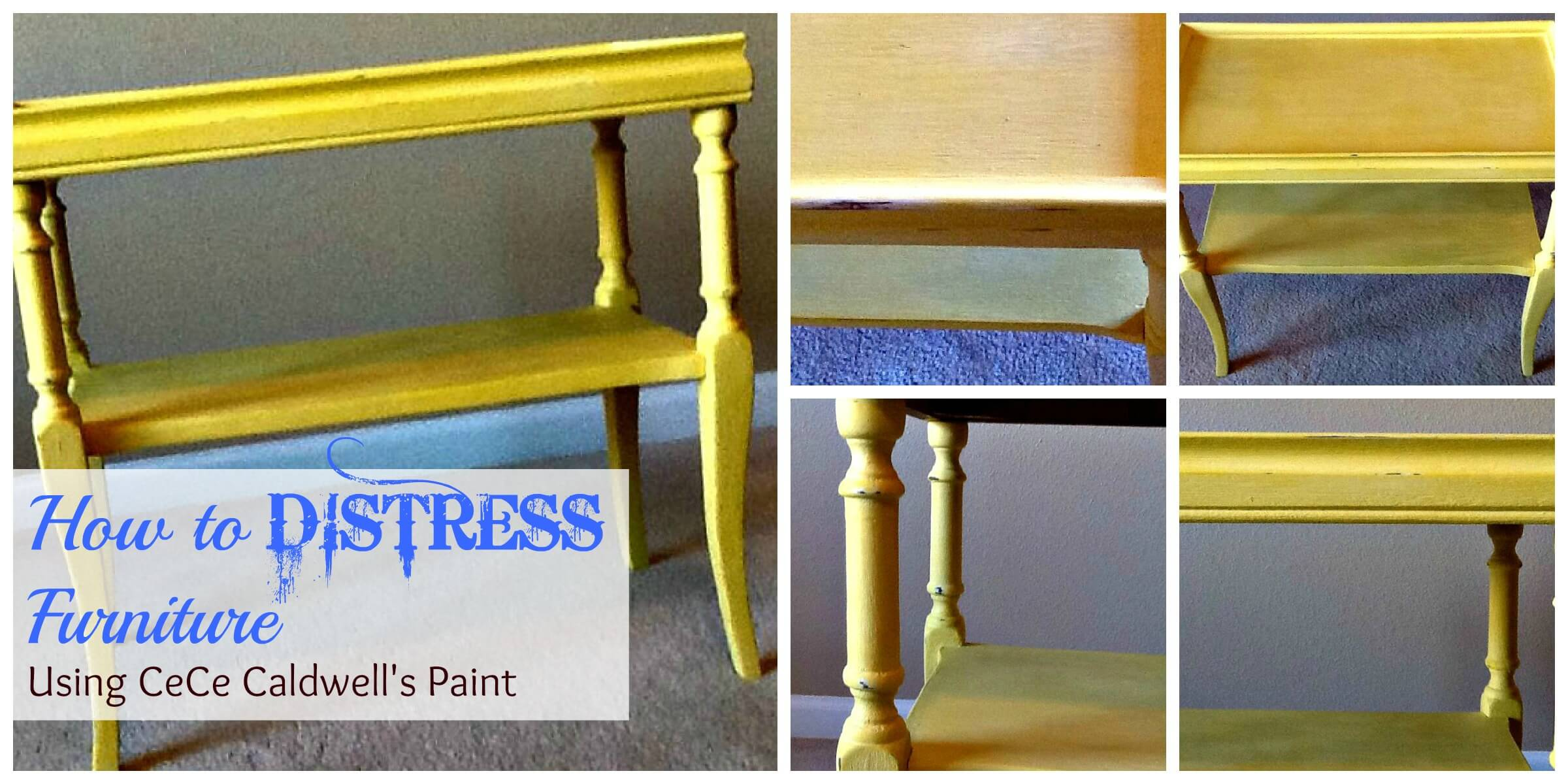 How to distress furniture | My Breezy Room