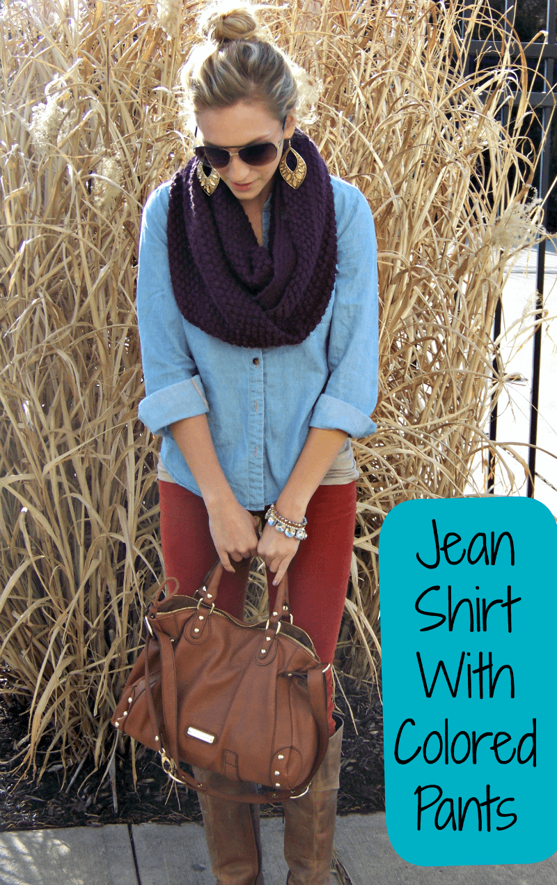 Chambray Shirt With Corduroy Pants The Perfect Fall Outfit
