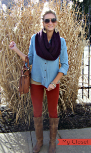 Chambray Shirt with Corduroy Pants| The Perfect Fall Outfit