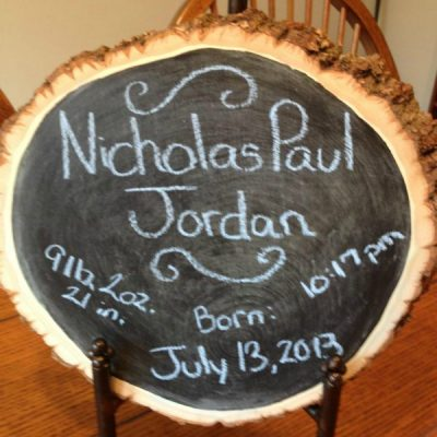 Easy Chalkboard Announcement Sign