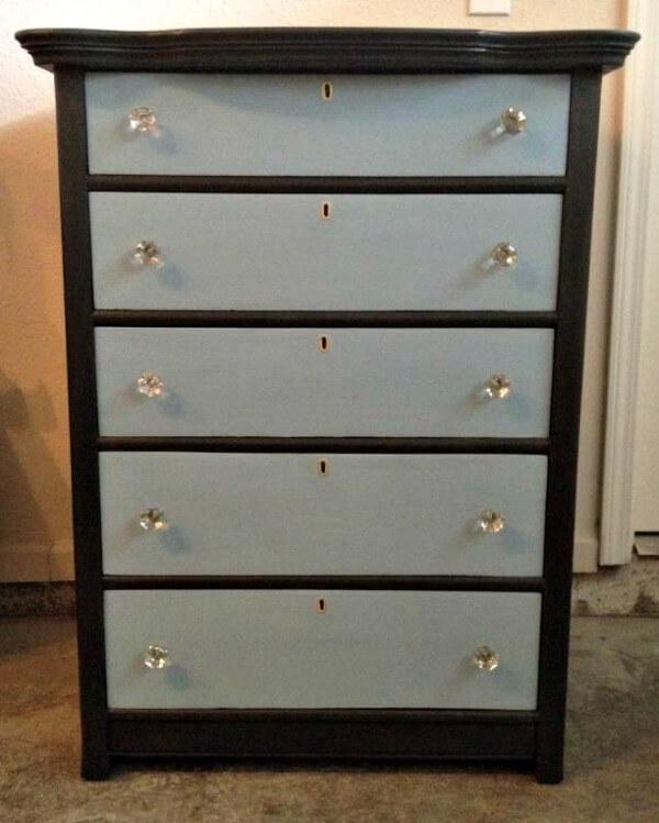 Grey and Blue Dresser