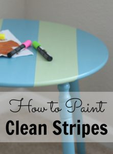 How to Paint Clean Stripes
