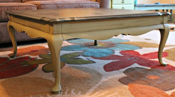 Glazed coffee table