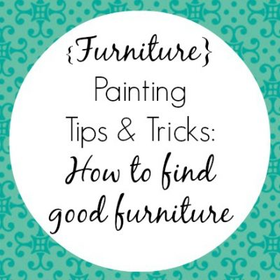 How to find good furniture for painting