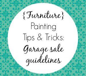 Garage Sale Guidelines