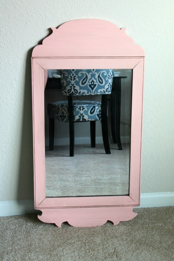 Pink Mirror: Perfect for a little girl's nursery.