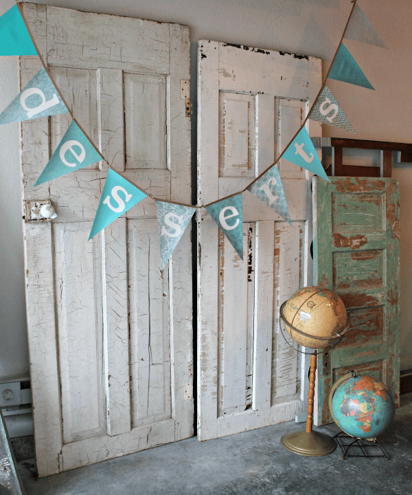 "Turquoise ""Desserts"" Banner - perfect for wedding!"