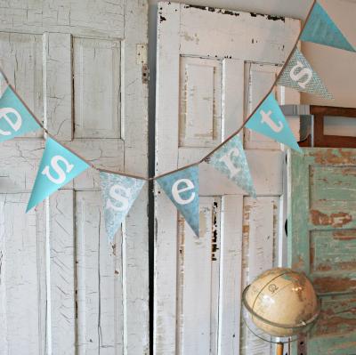 "Turquoise ""Desserts"" banner"