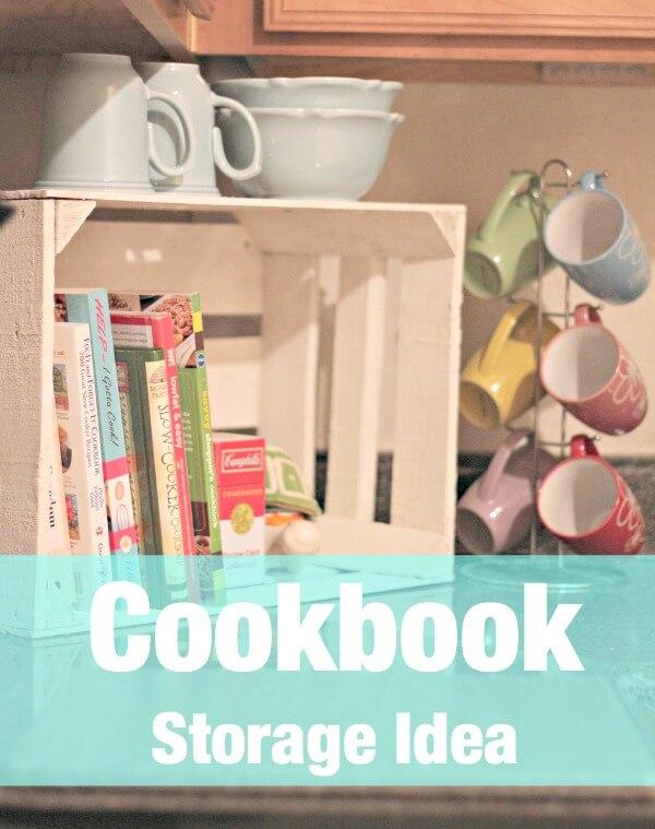Cookbook Storage Idea