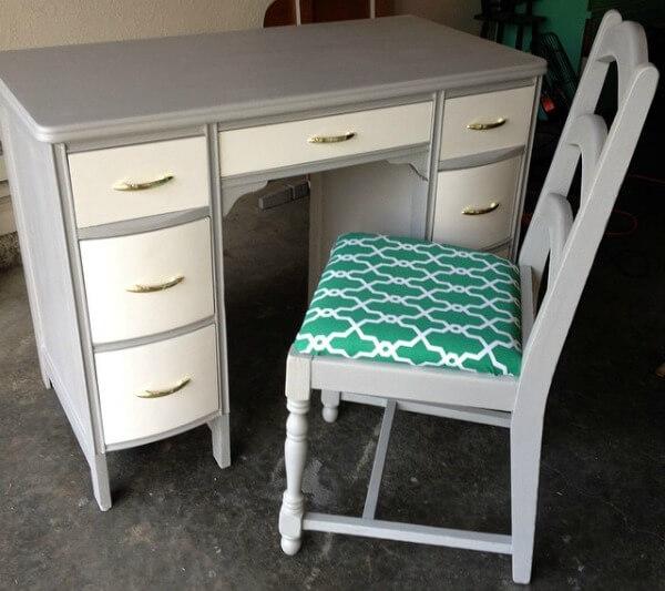 Gray and White Desk