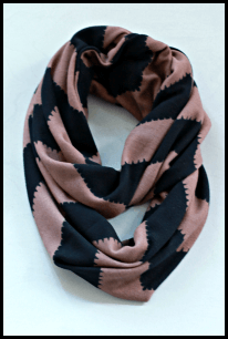 black and tan chevron scarf