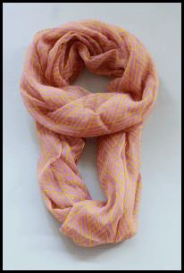 coral chevron scarf
