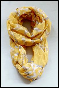 yellow aztec print scarf