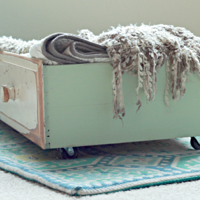 How to use an old drawer for extra storage