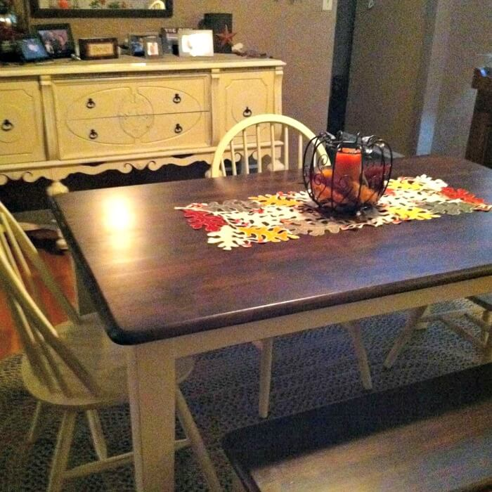How to Stain and Paint a Table