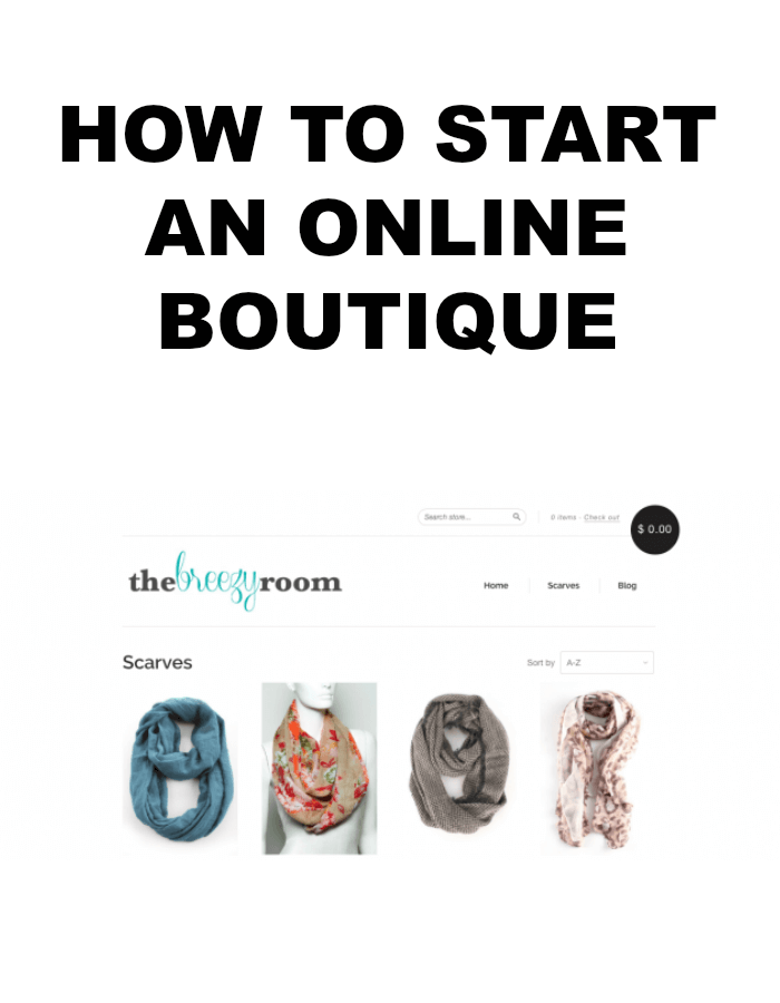 Start clothing business online