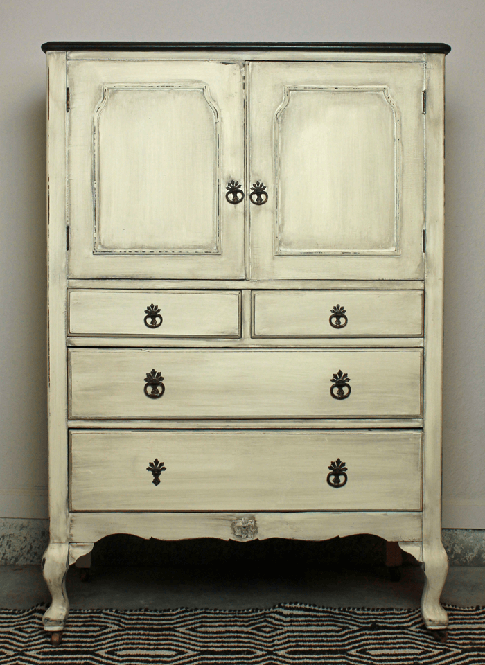 beautifully painted dresser
