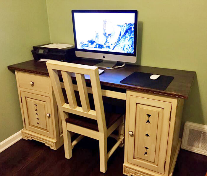 Before and After: Glazed Desk