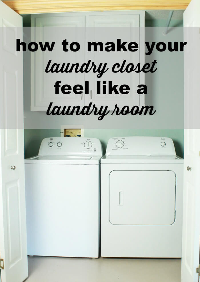 Delicieux How To Make Your Laundry Closet Feel Like A Laundry Room | My Breezy Room