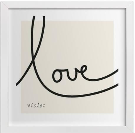 minted love print