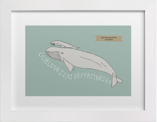 minted whale print