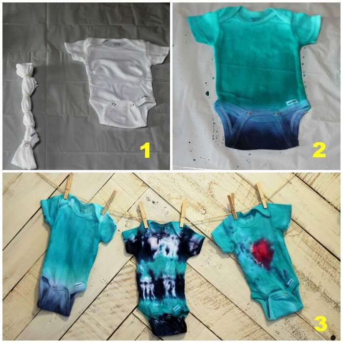 How to Tie Dye a Onesie