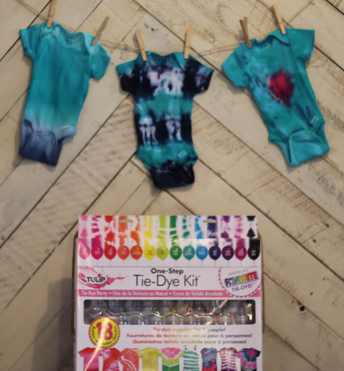 Use Tulip Tie Dye Kit to Tie Dye Onsies