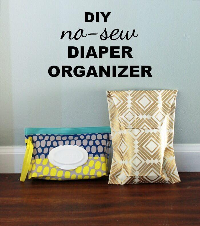DIY No Sew Diaper Organizer How to