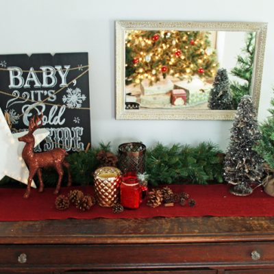 Decorating for the Holidays: How to Style a Christmas Vignette