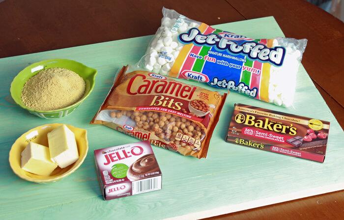 smores cakes ingredients