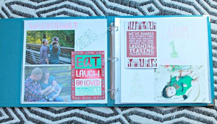 holiday scrapbook idea