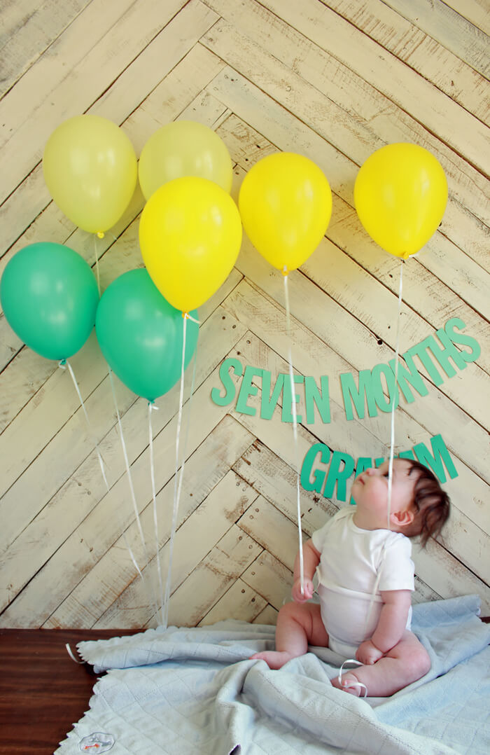 graham 7 month balloons