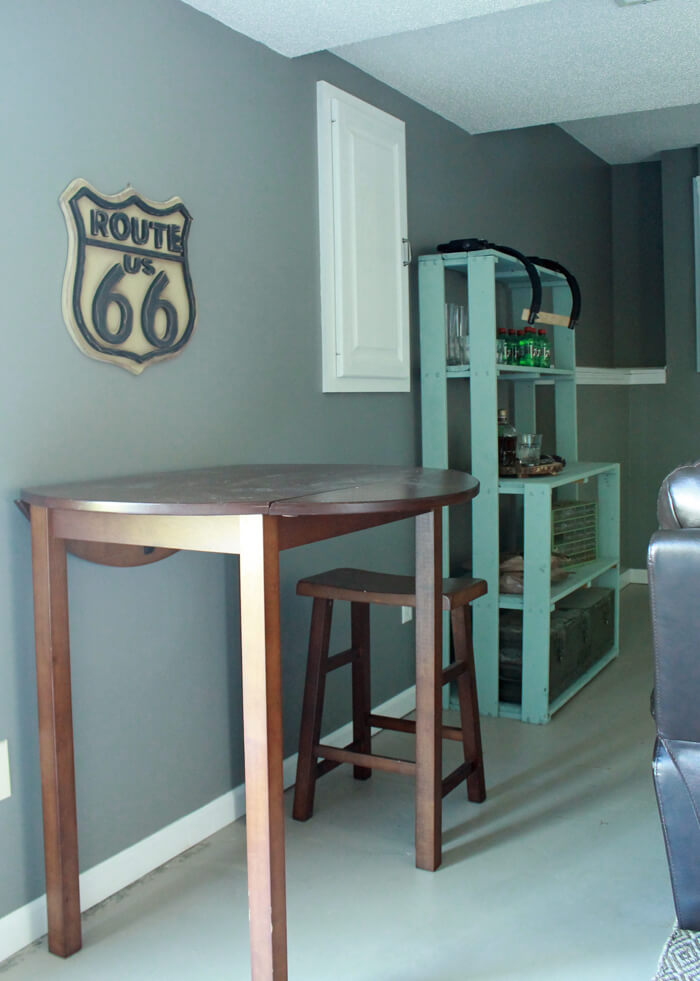 man cave bar area