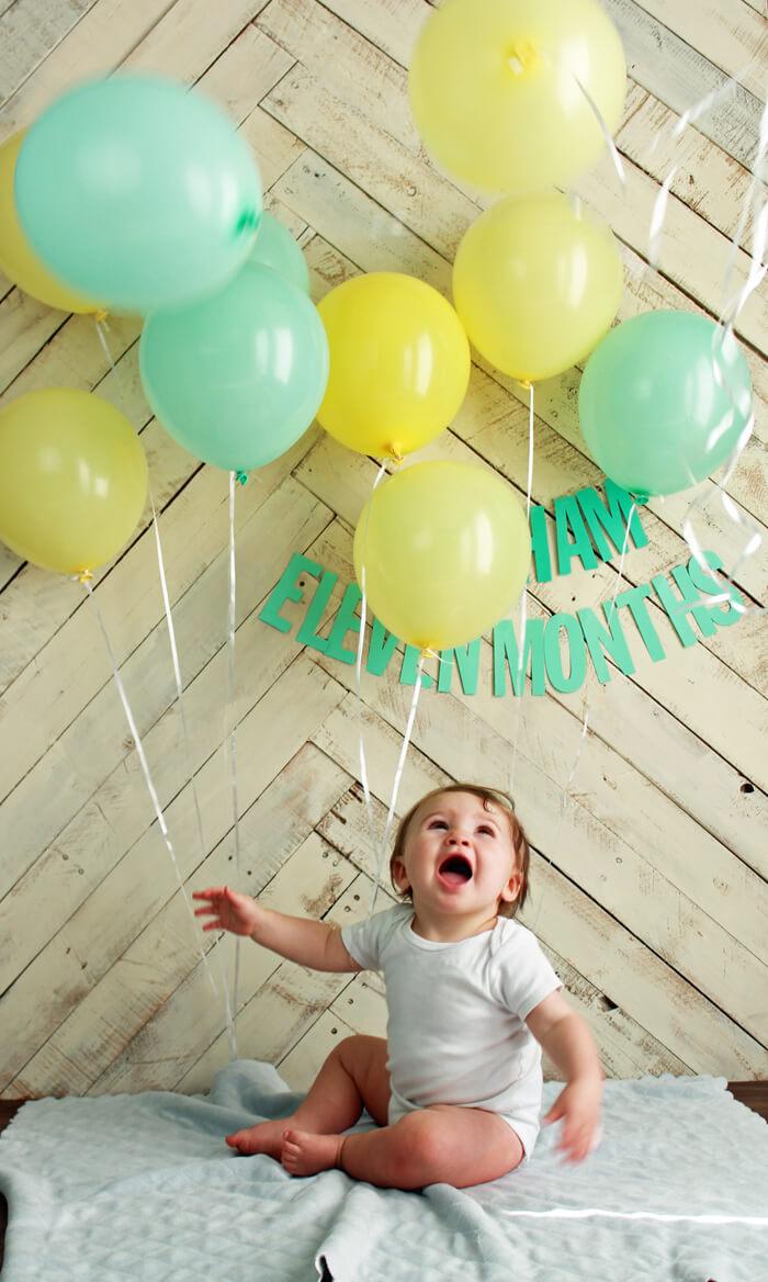 11 months crazy balloons