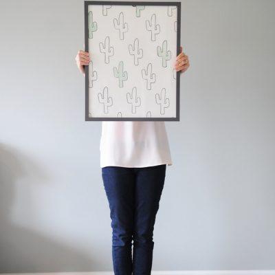 DIY Cactus Print