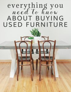 Everything You Need to Know About Buying Used Furniture