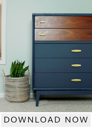 Download a free furniture painting guide + supply list