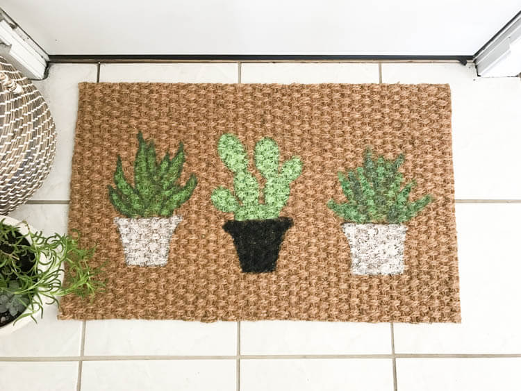 DIY Plant Doormat | My Breezy Room
