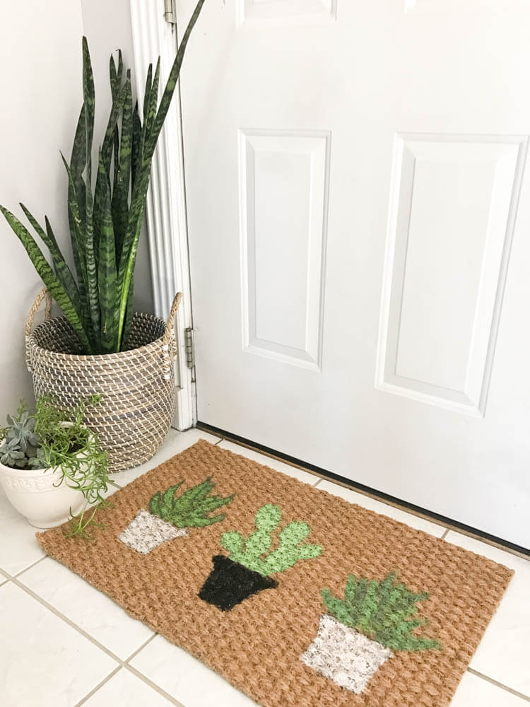 DIY Plant Doormat | My Breezy Room