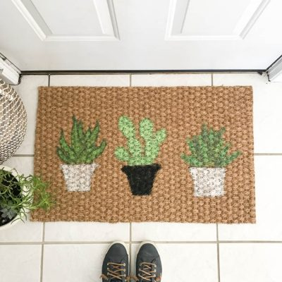 Doormat DIY: Cactus Doormat | My Breezy Room