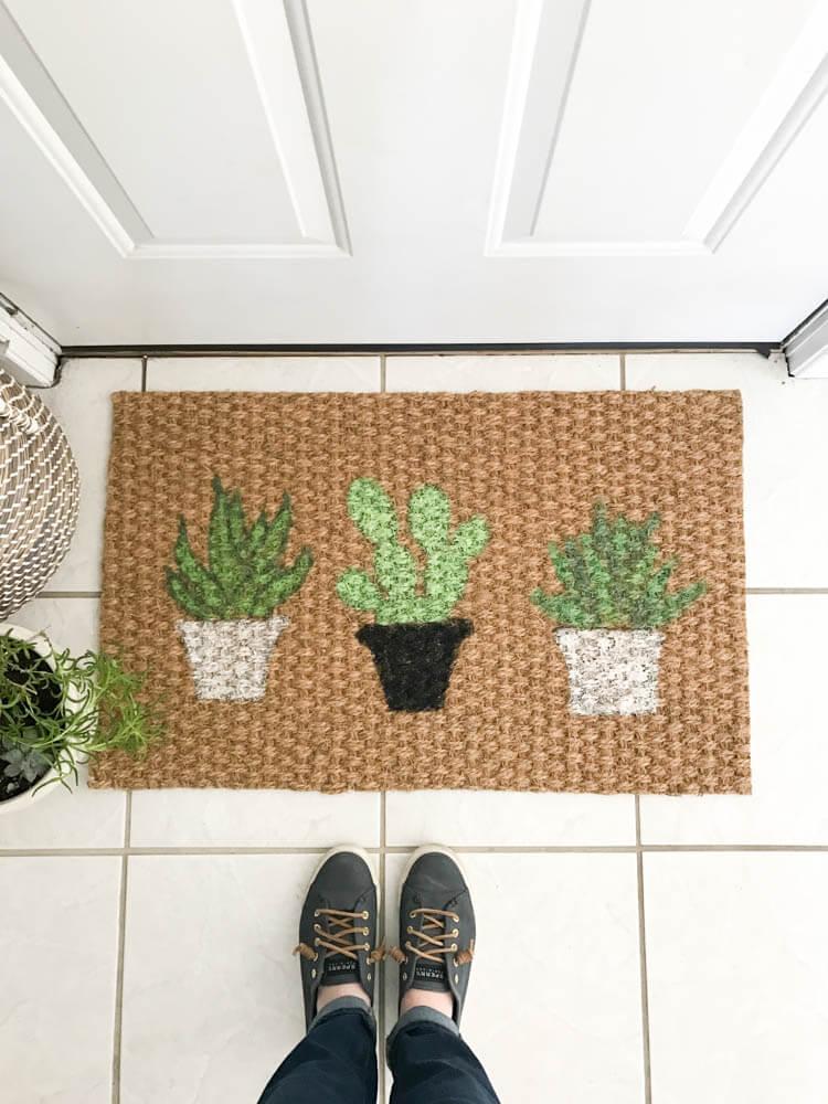Cactus Doormat Diy Design And Create Your Own Doormat