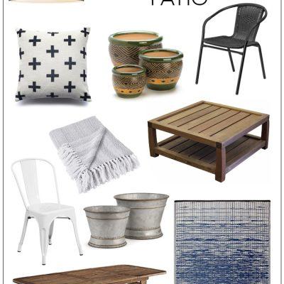 Modern Farmhouse Patio Shopping Guide