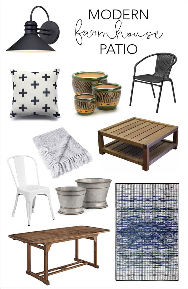 Modern Farmhouse Patio Shopping Guide | My Breezy Room