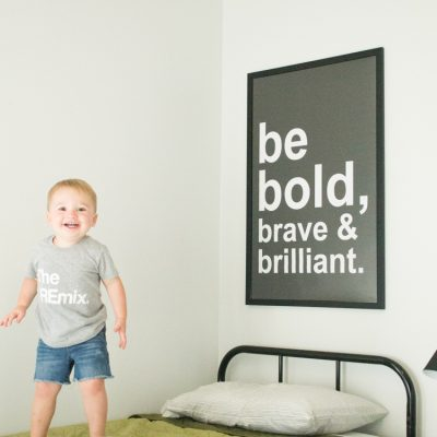 Modern Black and White Poster: Be Bold, Brave & Brilliant