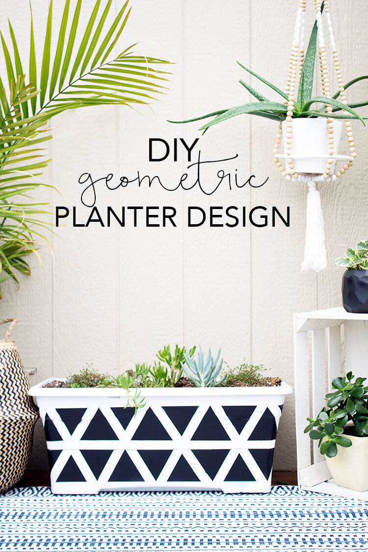 Geometric Planter DIY | My Breezy Room