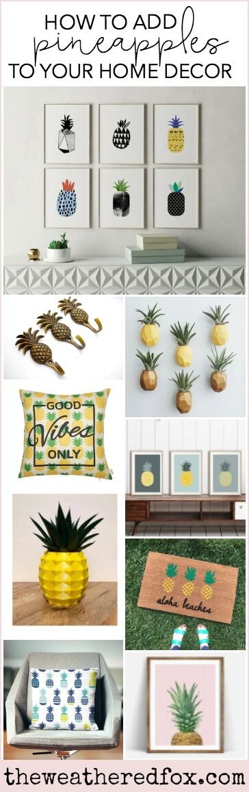 Adding Pineapples to Your Home Decor | My Breezy Room